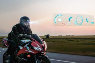 Kask motocyklowy z HUD, AR, GPS,