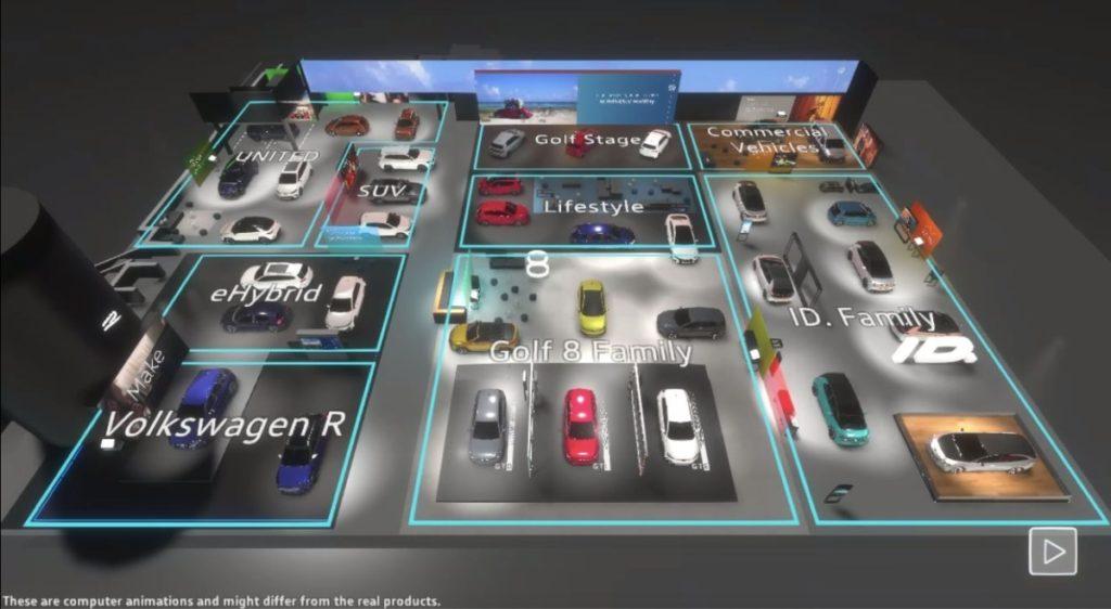 Stanowisko Volkswagen Virtual Reality