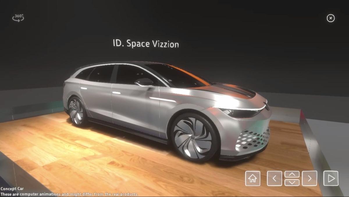 Volkswagen ID. Space Vizzion w Virtual Reality