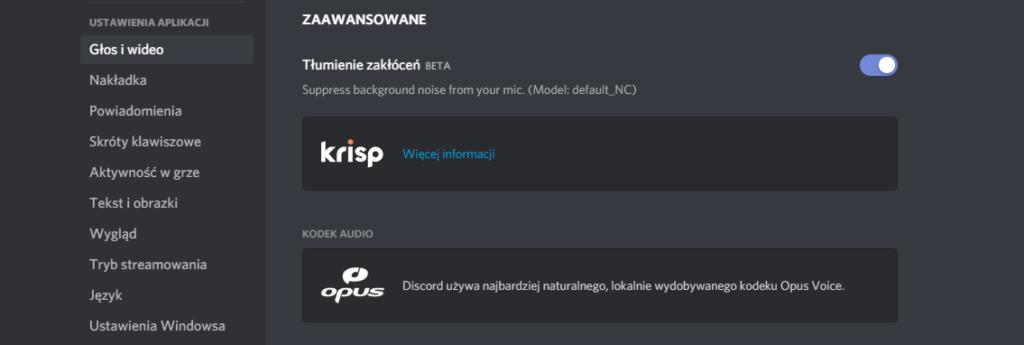 Discord - jak włączyć Krisp
