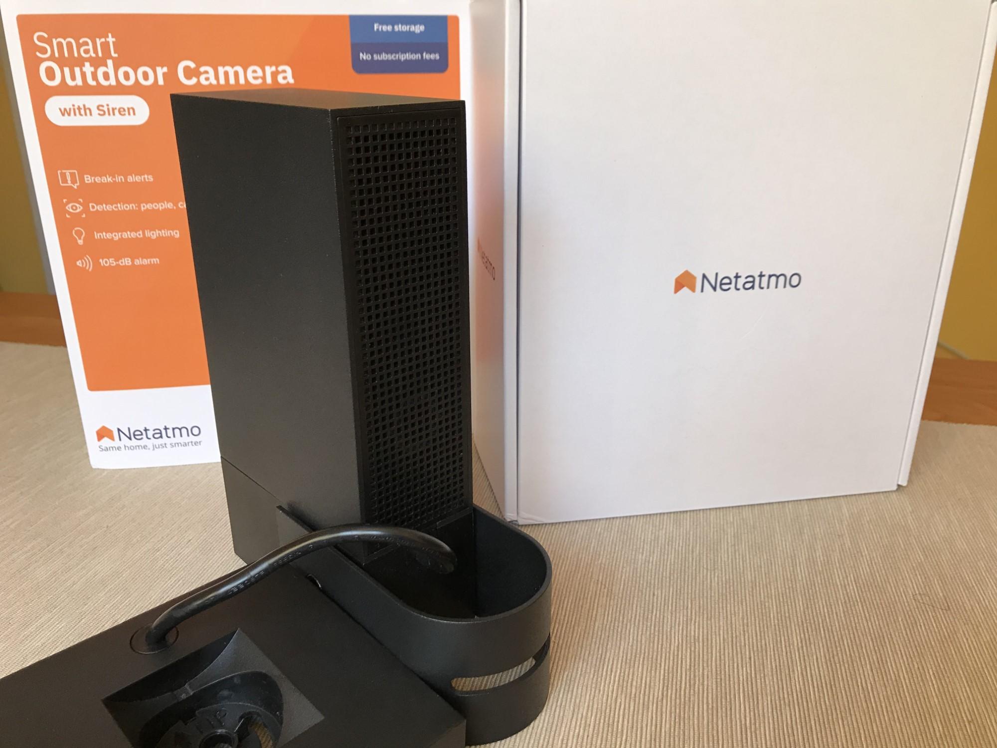 Kamera zewnętrzna Netatmo z tyłu