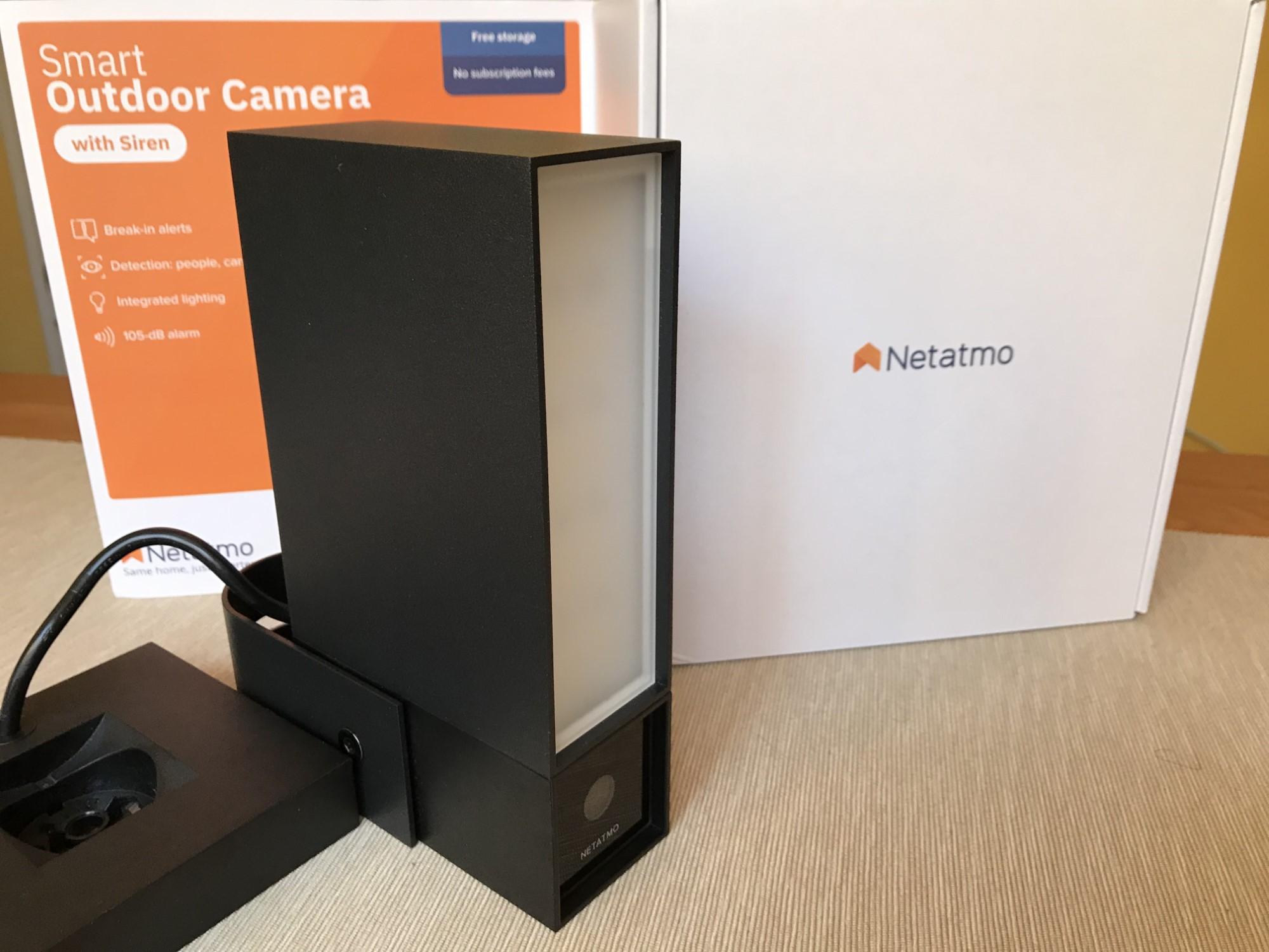 Kamera zewnętrzna Netatmo z przodu