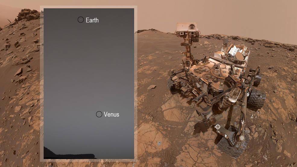 Łazik Curiosity zrobił nam zdjęcie. Tak wygląda Ziemia i Wenus z Marsa