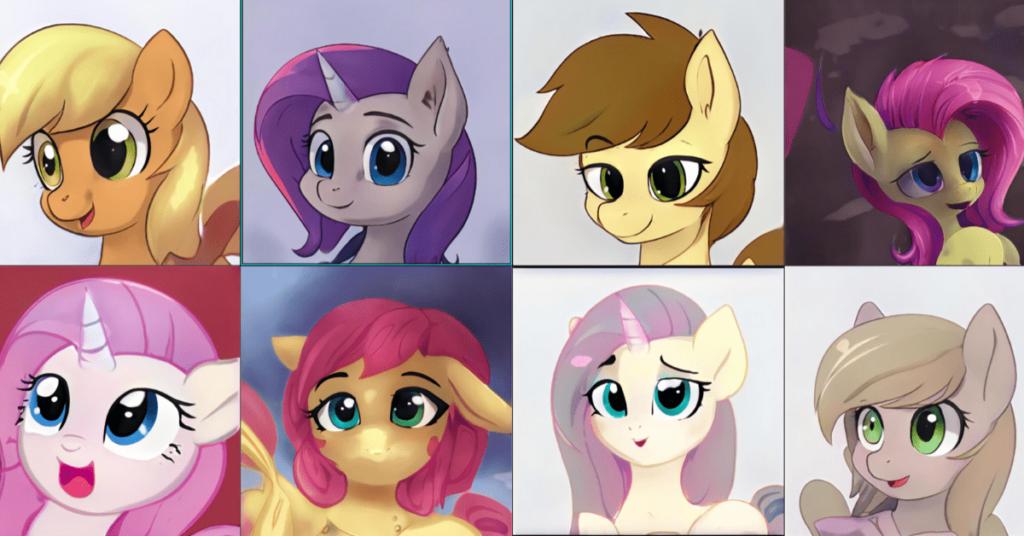 To AI tworzy nieistniejące kucyki w stylu My Little Pony. Serio ;) 8