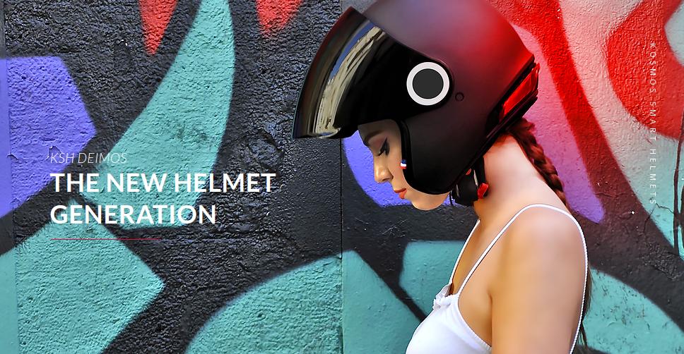 Kosmos Smart Helmet to  inteligentny kask motocyklowy, który sam zadzwoni po pomoc