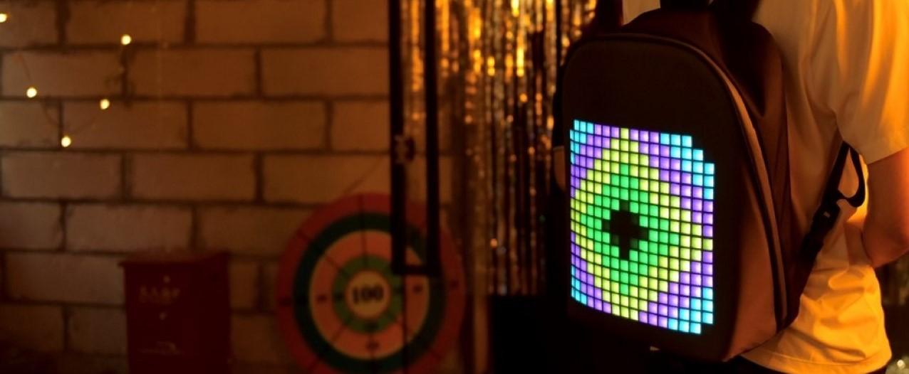 Plecak Divoom z panelem LED