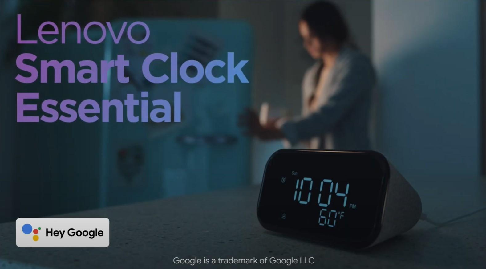 Lenovo Smart Clock Essential: budzik z Asystentem Google za mniej niż 50 dolarów