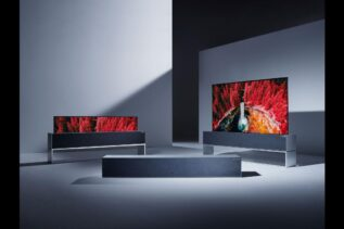 LG zwijany telewizor