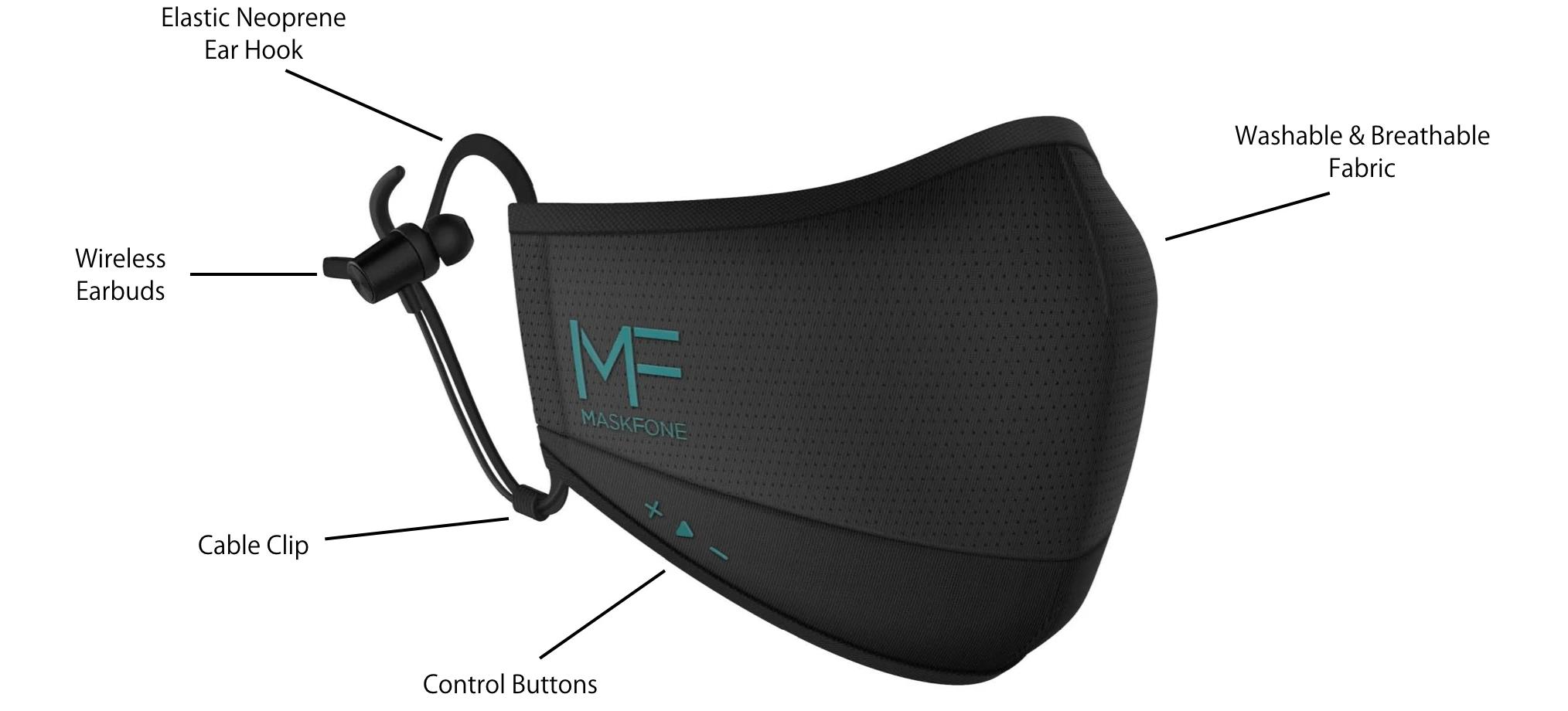 Maskfone - maseczka... z wbudowanymi słuchawkami