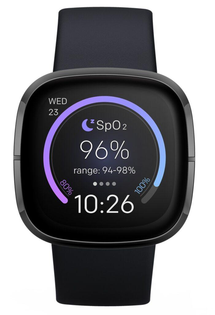 Tak prezentuje się jedyna dostępna obecnie tarcza dla wyświetlania SpO2 (fot. Fitbit)
