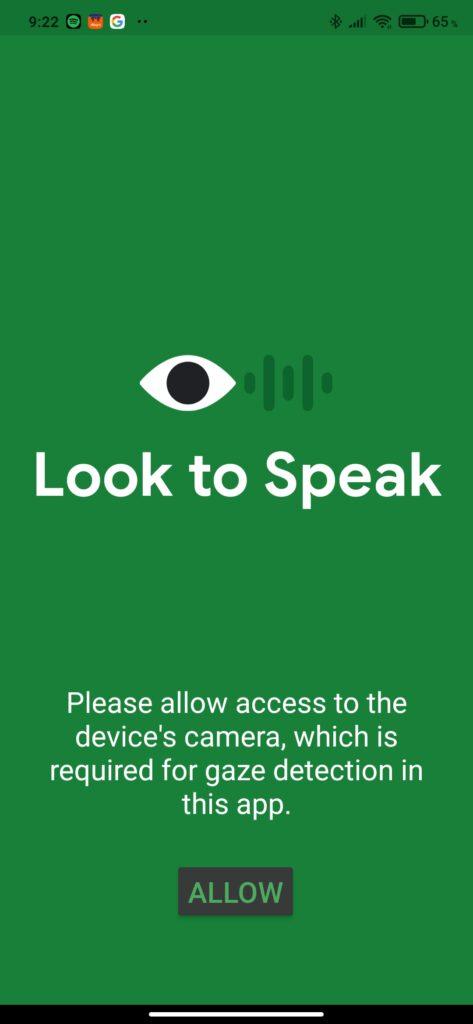 Look to Speak, by przemówiły spojrzenia