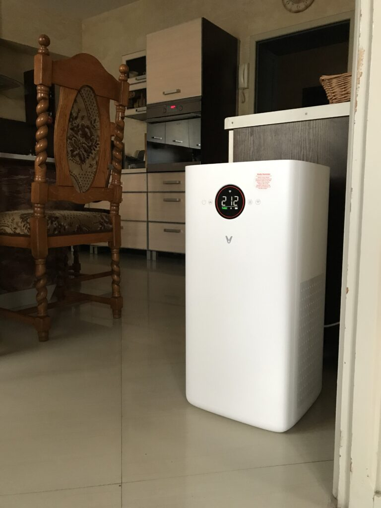 W kuchni Viomi Smart Air Purifier Pro UV miał sporo pracy