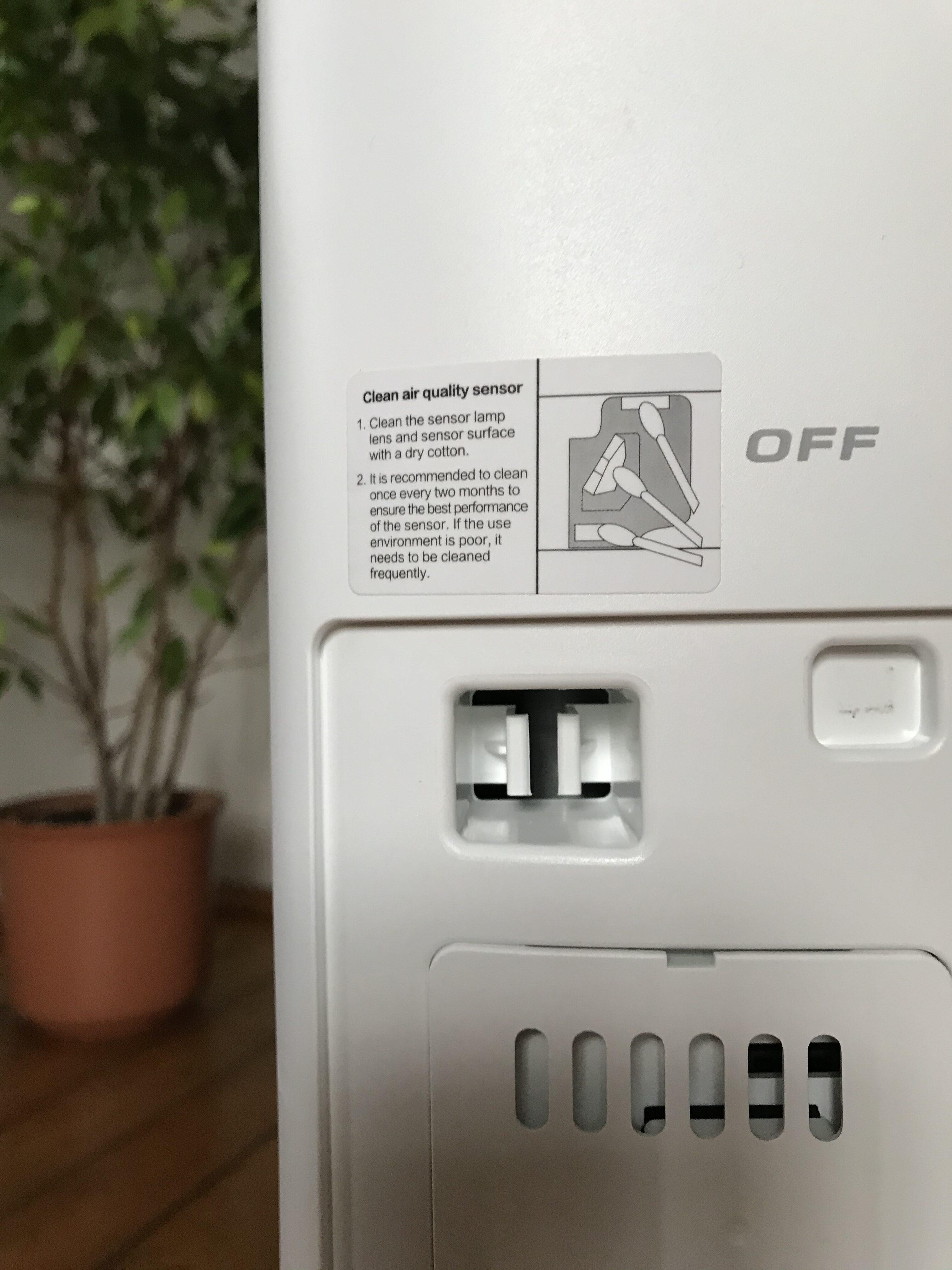Należy pamiętać o czyszczeniu wlotu sensora czystości powietrza