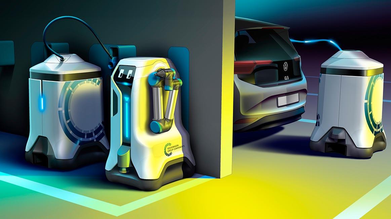 VW prezentuje sposób działania robota ładującego
