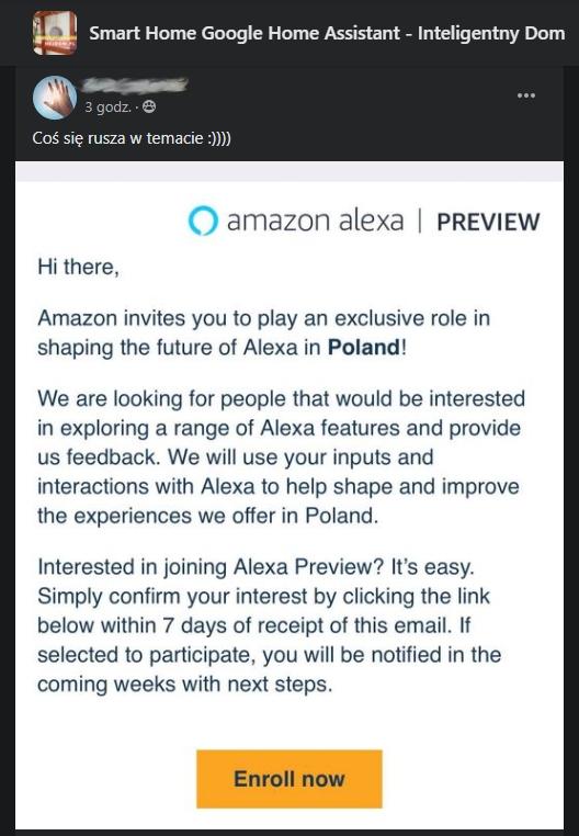 Amazon Alexa przemówi po polsku? To możliwe!
