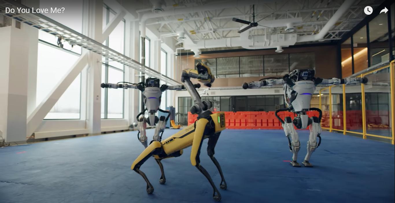 Roboty Boston Dynamics tańcząc żegnają 2020 rok