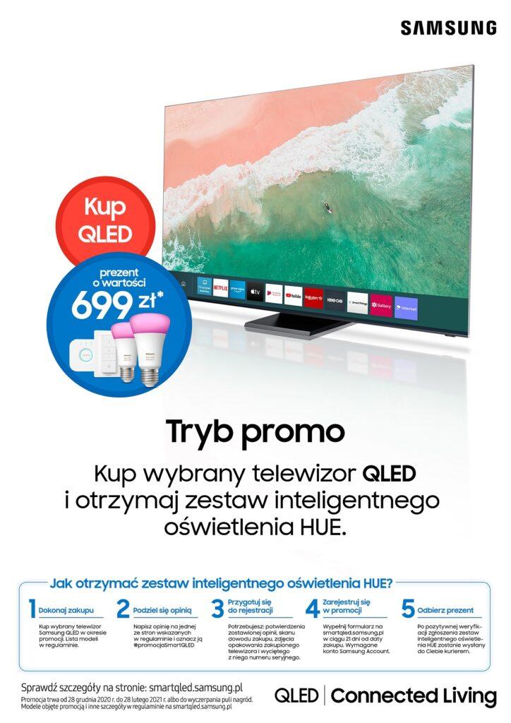 Kup telewizor Samsung, a zestaw oświetlenia Philips HUE otrzymasz w prezencie (fot. Samsung)
