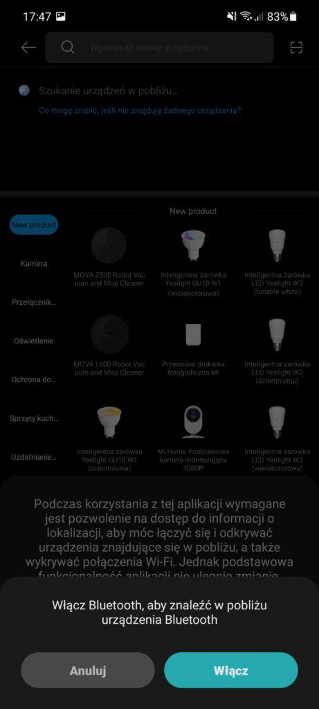 Aplikacja Xiaomi Home zaktualizowana o ciemny motyw