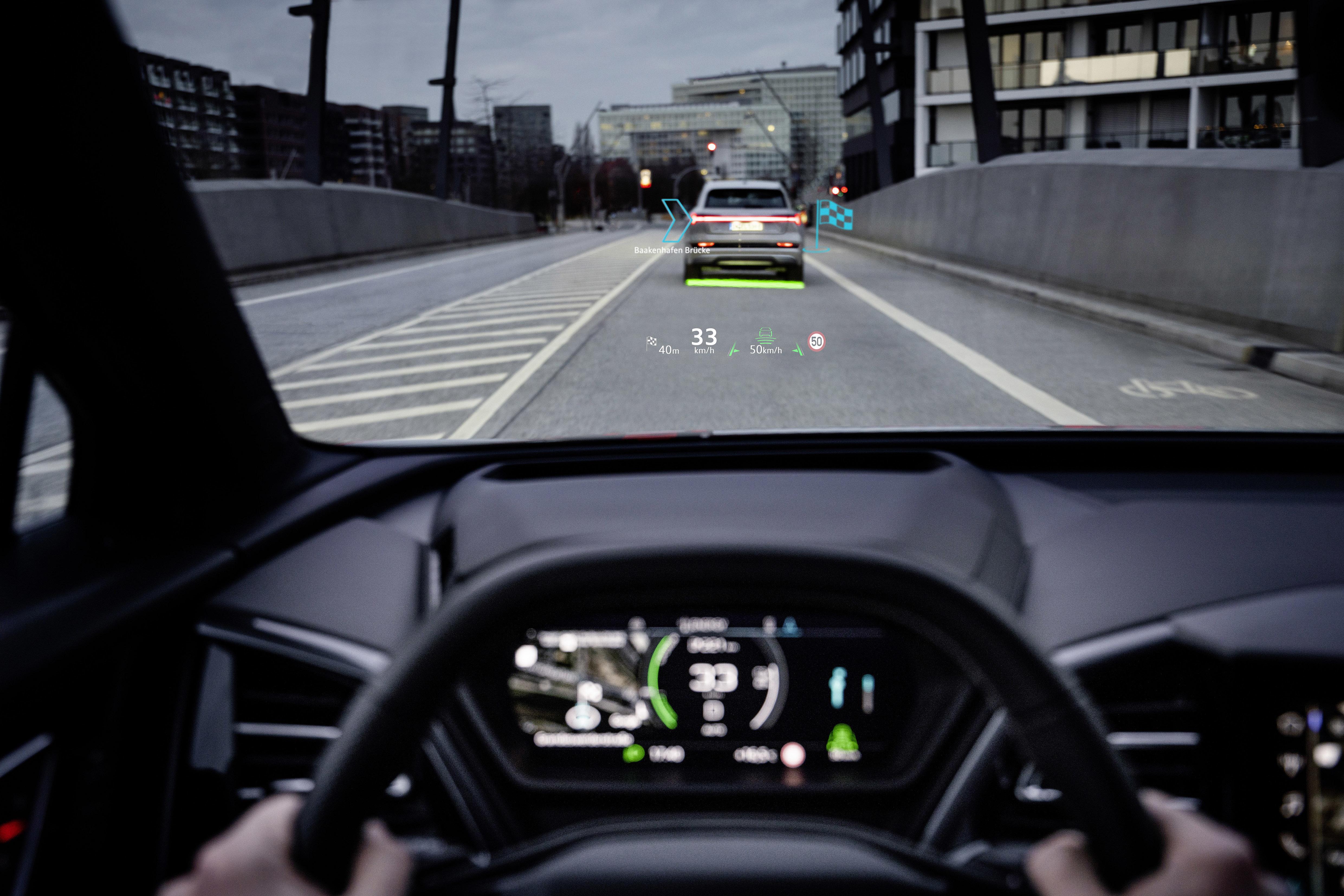 AR w Audi Q4 e-tron - tak wygląda przyszłość nawigacji