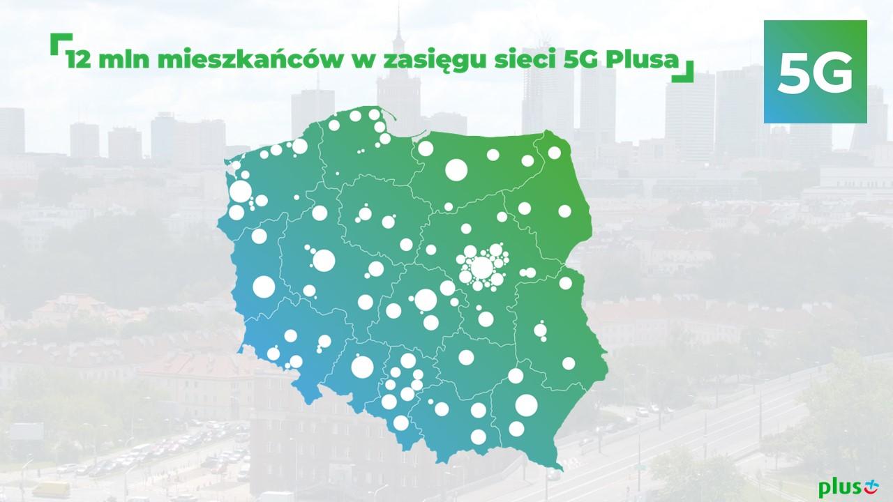 Już 12 milionów mieszkańców Polski w zasięgu 5G od Plusa
