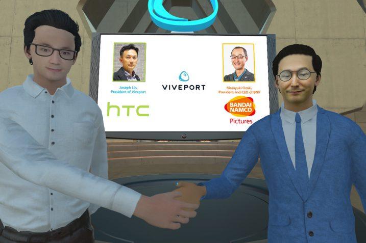 Anime Bandai Namco na HTC Viveport