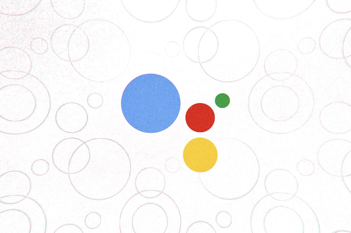 Obrazek przedstawia logo Google Assistant