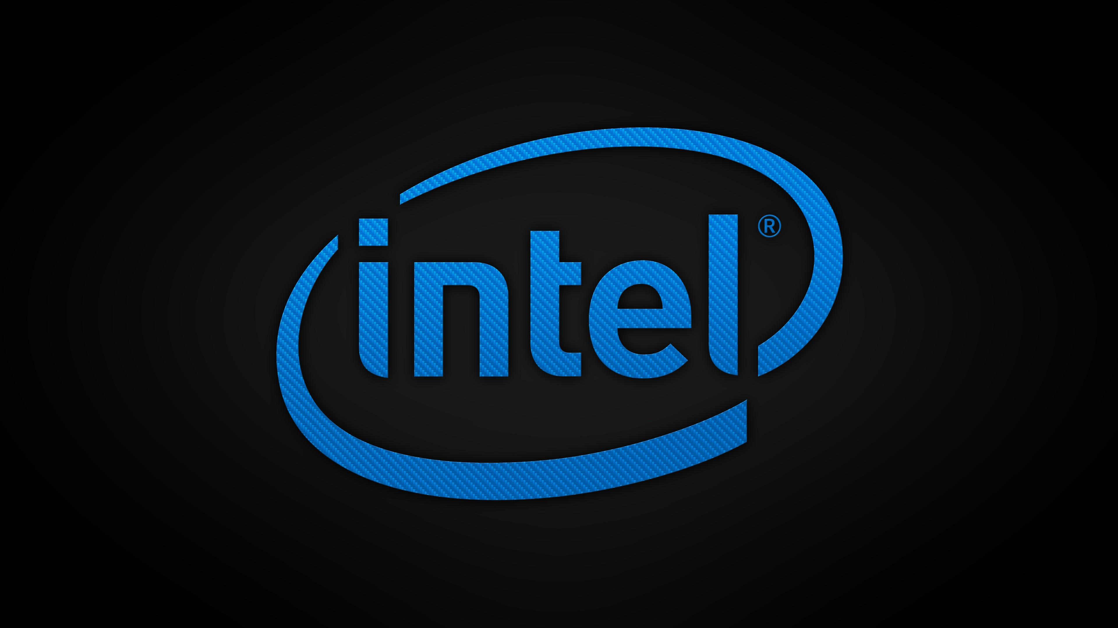 Obrazek przedstawia logo firmy Intel.