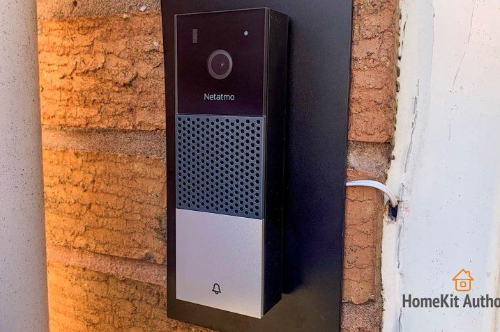 Obrazek przedstawia inteligentny wideo dzwonek firmy Netatmo.