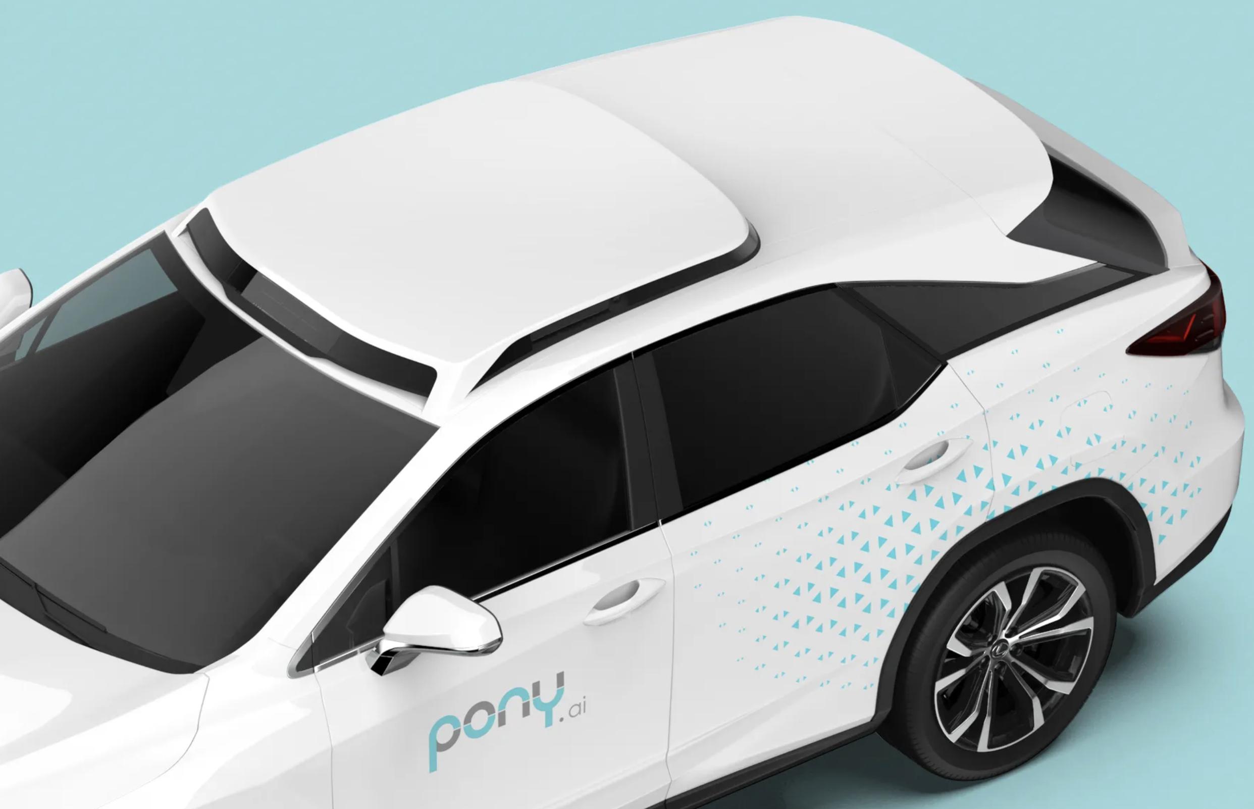 Obrazek przedstawia robotaxi z zupełnie nowym skanerem LIDAR. Pojazd należy do Pony.ai, natomiast skaner jest autorstwa Luminar.