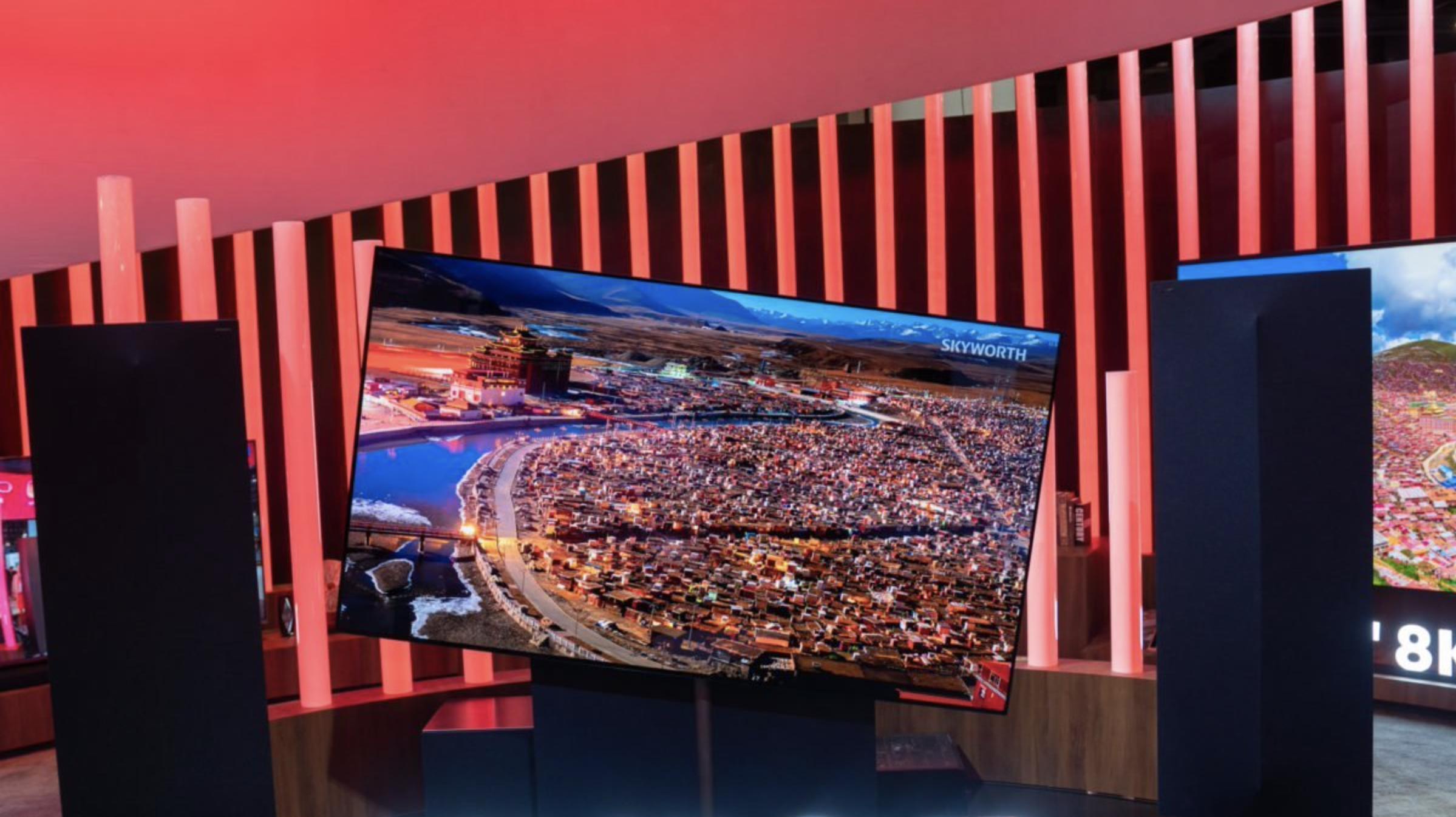 Obrazek przedstawia smart TV chińskiej firmy Skyworth.