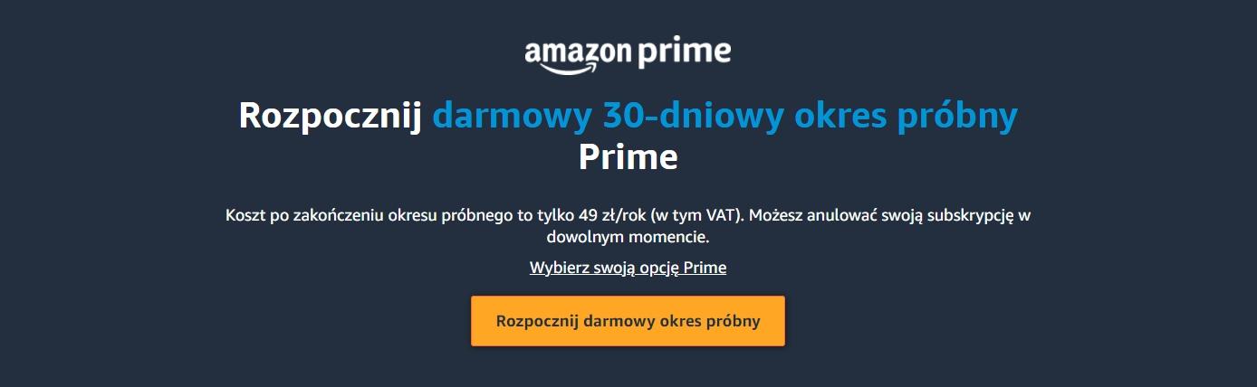 Amazon zaszalał! Amazon Prime w Polsce za bezcen