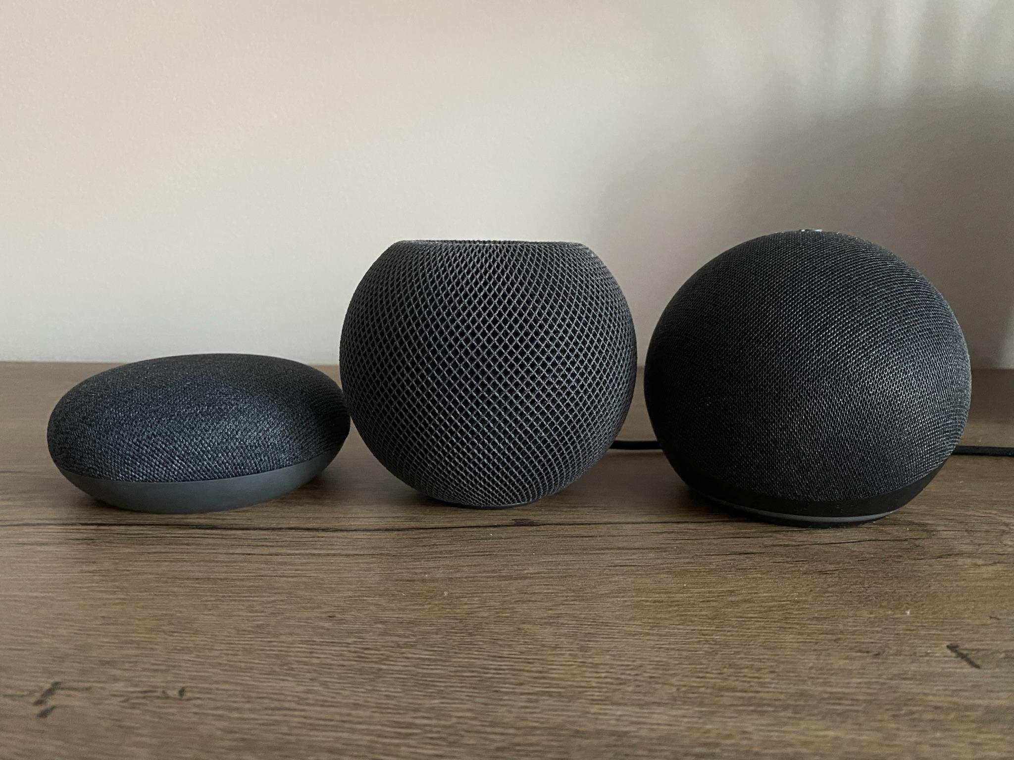 HomePod Mini, Echo Dot 4, Nest Mini 2 fot. oiot.pl