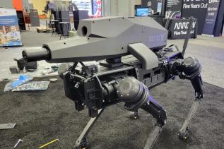 Pierwszy czworonożny robot z karabinem stał się faktem